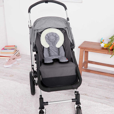 stroller with Skip Hop Stroll & Go Cool Touch Infant Support in Heather Grey