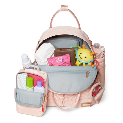 Skip Hop Suite 6-In-1 Diaper Backpack Set filled with items