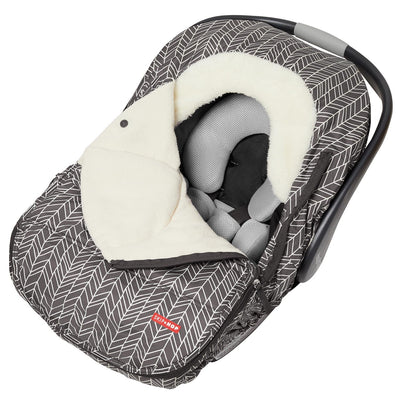 Skip Hop Stroll Go Car Seat Cover In Grey Feather