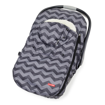 Skip Hop Stroll & Go Car Seat Cover in Tonal Chevron