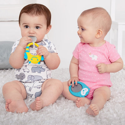 Baby playing with the Skip Hop Explore & More Stay Cool Teethers