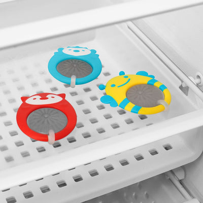 Skip Hop Explore & More Stay Cool Teethers in the refrigerator