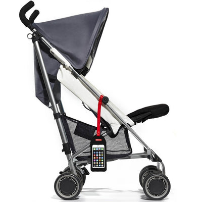 Skip Hop Stroll & Go Phone Tether attached to stroller