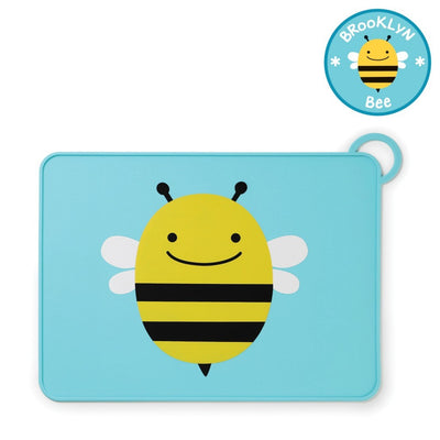 Skip Hop Zoo Fold & Go Silicone Placemat in Bee
