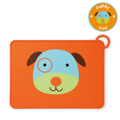 Skip Hop Zoo Fold & Go Silicone Placemat in Dog