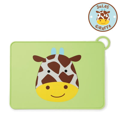 Skip Hop Zoo Fold & Go Silicone Placemat in Giraffe