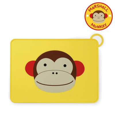 Skip Hop Zoo Fold & Go Silicone Placemat in Monkey