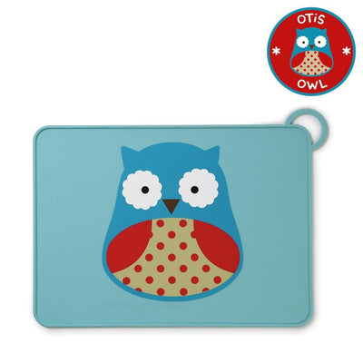 Skip Hop Zoo Fold & Go Silicone Placemat in Owl