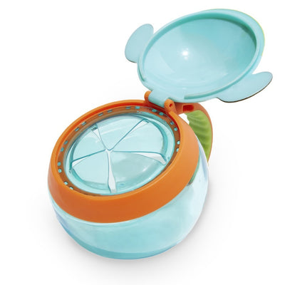 Skip Hop Zoo Snack Cup in Dog Flipped Open
