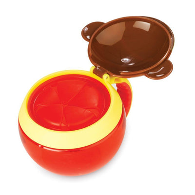 Skip Hop Zoo Snack Cup in Monkey Flipped Open
