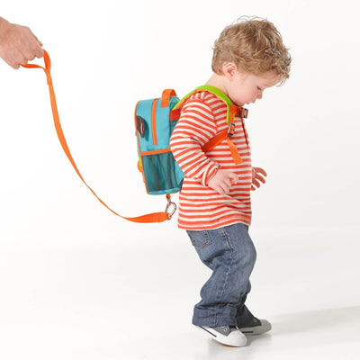 Boy wearing Skip Hop Zoo Safety Harness in Dog