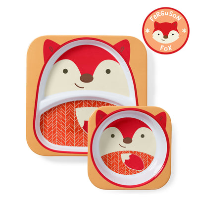 Skip Hop Zoo Tableware Melamine Plate & Bowl Set in Fox