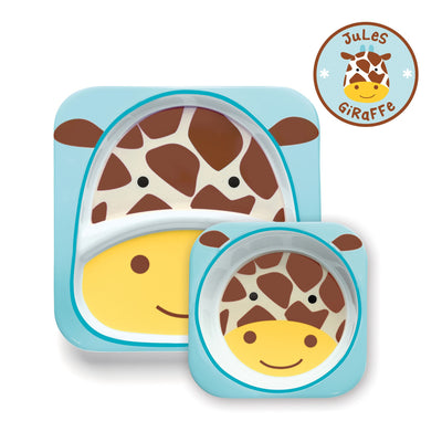 Skip Hop Zoo Tableware Melamine Plate & Bowl Set in Giraffe