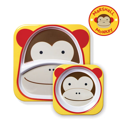 Skip Hop Zoo Tableware Melamine Plate & Bowl Set in Monkey