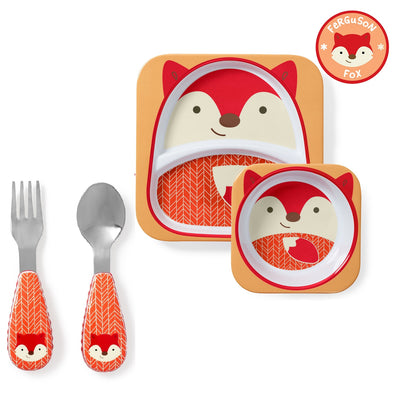 Skip Hop Zoo Tableware Melamine Set & Zootensils in Fox