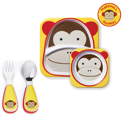 Skip Hop Zoo Tableware Melamine Set & Zootensils in Monkey