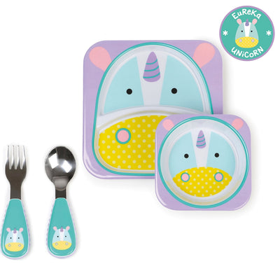 Skip Hop Zoo Tableware Melamine Set & Zootensils in Unicorn