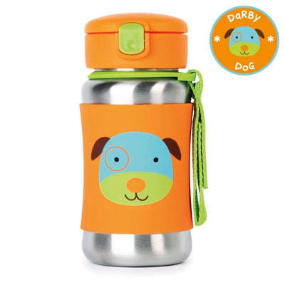 Skip Hop Zoo Stainless Steel Straw Bottle in Dog
