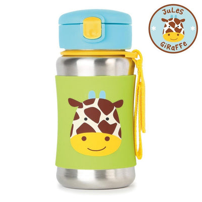 Skip Hop Zoo Stainless Steel Straw Bottle in Giraffe
