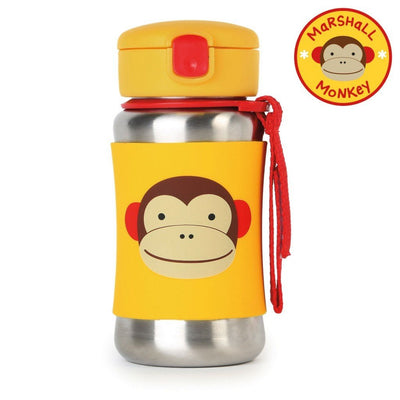 Skip Hop Zoo Stainless Steel Straw Bottle in Monkey