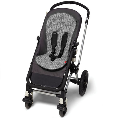Skip Hop Stroll & Go Cool Touch Stroller Liner in Grey Feather on Stroller