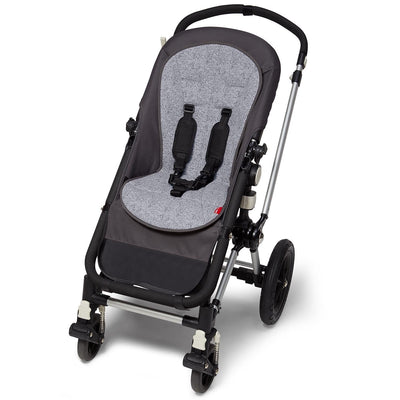 Skip Hop Stroll & Go Cool Touch Stroller Liner in heather grey on stroller