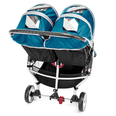 Baby Jogger City Mini® Double Stroller in Teal/Gray back view