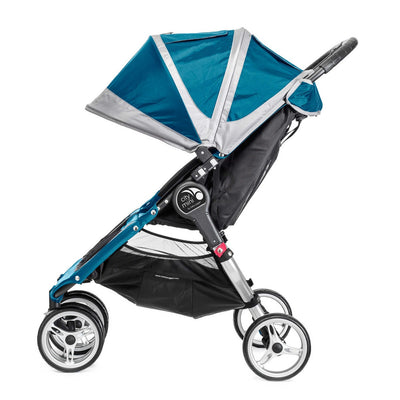 Baby Jogger City Mini® Double Stroller in Teal/Gray side view
