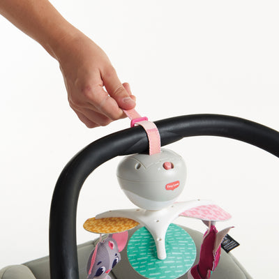 Tiny Love Tiny Princess Tales™ Take-Along Mobile attached to infant car seat