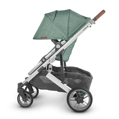 UPPAbaby CRUZ V2 2020 Stroller in Emmett side view with canopy extended
