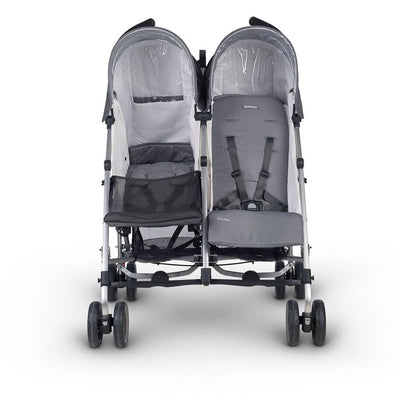 UPPAbaby G-LINK Double Umbrella Stroller in Pacal with Infant Insert