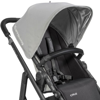 UPPAbaby Leather Bumper Bar Cover in Black on Cruz Stroller