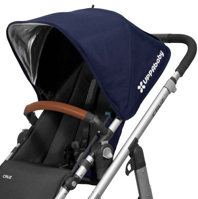 UPPAbaby Leather Bumper Bar Cover in Saddle on Cruz Stroller