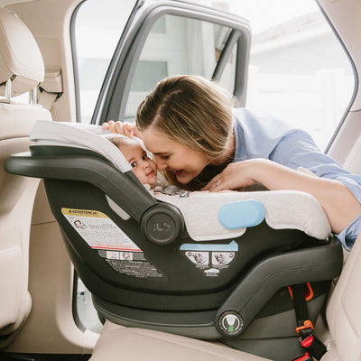 UPPAbaby MESA Infant Car Seat in Bryce in the car
