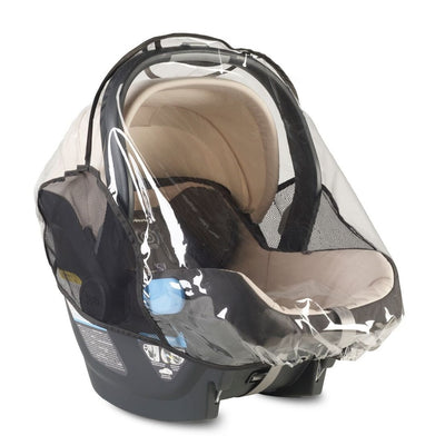 UPPAbaby MESA Infant Car Seat Rain Shield on MESA Infant Car Seat