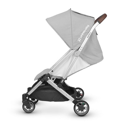 UPPAbaby MINU Stroller in Devin side view and seat reclined