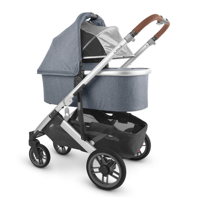 UPPAbaby 2020 Bassinet V2 in Gregory on Cruz stroller