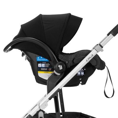 UPPAbaby 2020 VISTA/CRUZ Adapter for Maxi-Cosi/Nuna/Cybex Infant Car Seat attached to Cruz stroller