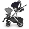 UPPAbaby 2020 VISTA/CRUZ Adapter for Maxi-Cosi/Nuna/Cybex Infant Car Seat attached to Vista stroller in upper position