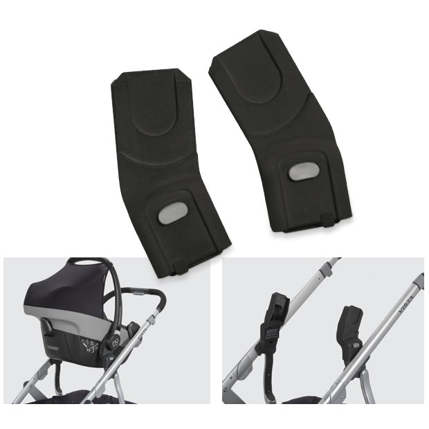 and Cybex UPPAbaby Lower Infant Car Seat Adapter for Maxi-COSI Black Nuna
