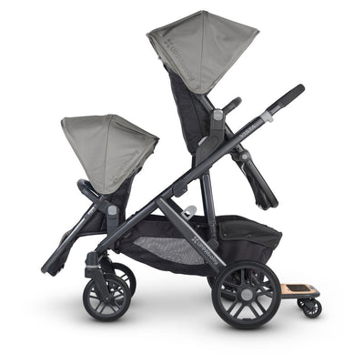 UPPAbaby VISTA PiggyBack Ride-Along Board on Vista as a stroller for 3 children