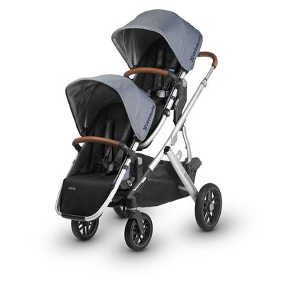 UPPAbaby VISTA 2018 RumbleSeat in Gregory on Vista Double Stroller