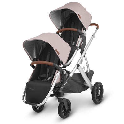 UPPAbaby 2020 VISTA RumbleSeat V2 in Alice on the Vista stroller as a double