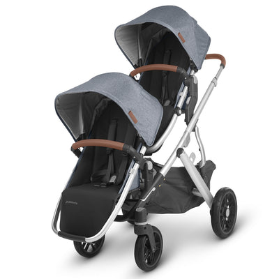 UPPAbaby 2020 VISTA RumbleSeat V2 in Gregory on Vista as a double stroller