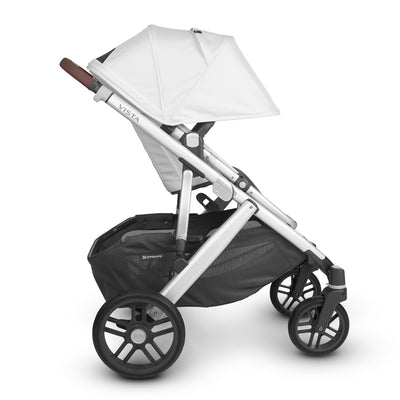 UPPAbaby VISTA V2 Stroller in Bryce side view with canopy extended