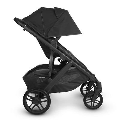 UPPAbaby VISTA V2 Stroller in Jake side view with canopy extended