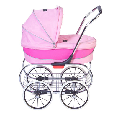 Valco Baby Princess Doll Stroller in Pink side view