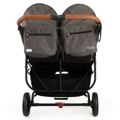 Valco Baby Snap Duo Trend Stroller in Charcoal back view