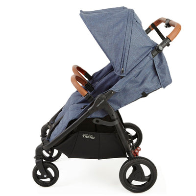 Valco Baby Snap Duo Trend Stroller in Denim side view