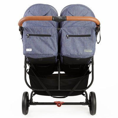 Valco Baby Snap Duo Trend Stroller in Denim back view